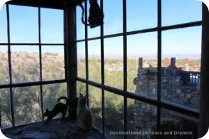 Mystery Castle kitchen corner window