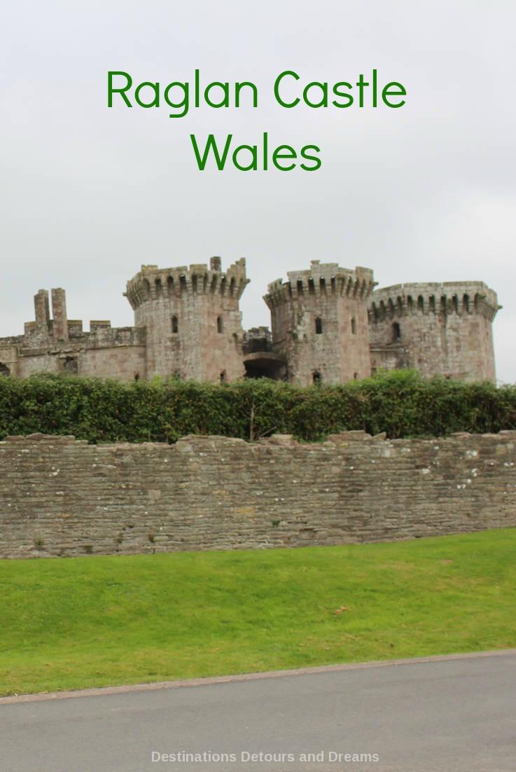 Raglan Castle; impressive ruins of a late medieval castle in southeast Wales #Wales #castle #ruins