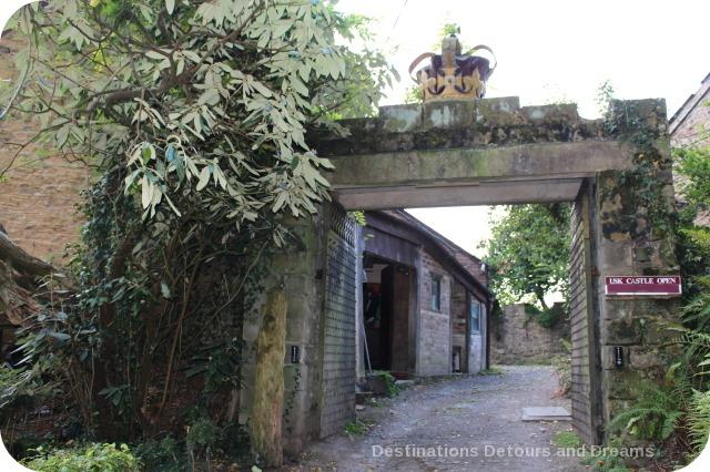Entrance to Usk Castle