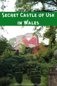 Usk, Wales has beautiful and romantic castle ruins - The Secret Castle of Usk #Wales #castle