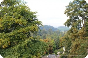 Usk Castle view