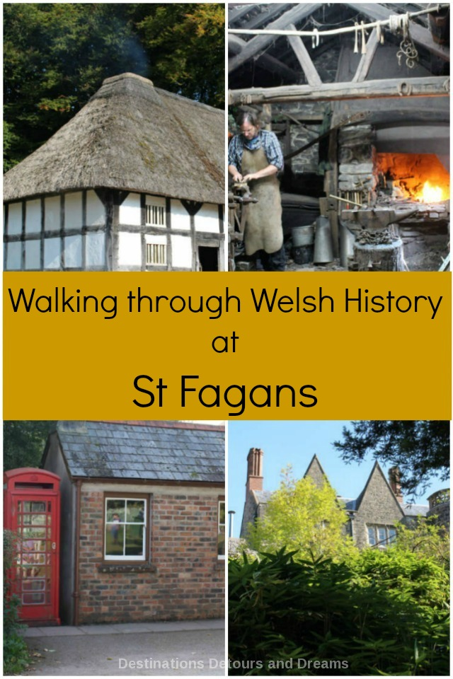 St Fagans National History Museum outside Cardiff, Wales contains an amazing collection of homes and buildings from different time periods and different areas of Wales