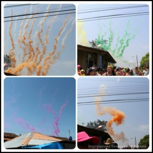 Coloured smoke fireworks