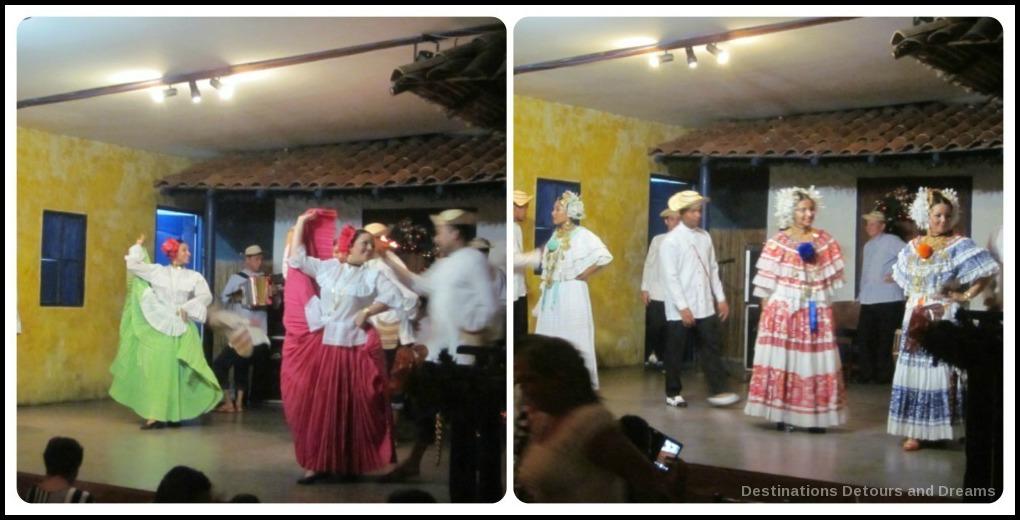Fold dancers at Las Tinajas