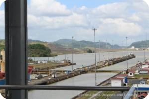 Opening of gates at Miraflores Locks