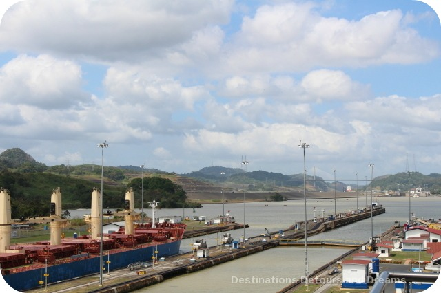 Ship in Miraflores Locks