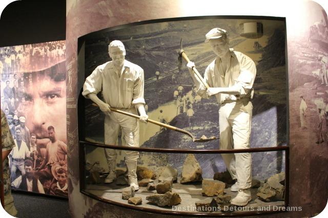 Display at Miraflores Locks Museum