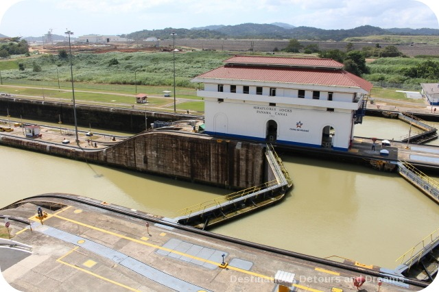 Miraflores Locks difference in water levels