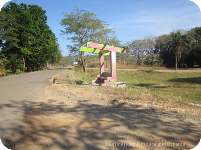 Bus stop in Azuero Penisula