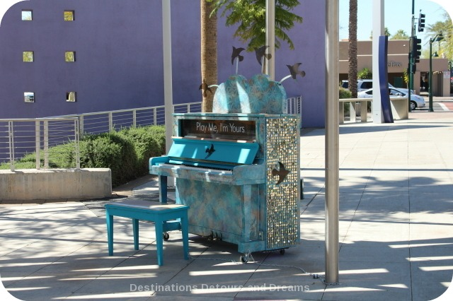 Glitzy street piano in Mesa