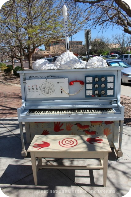Mesa Street Piano in front of Ideas Museum