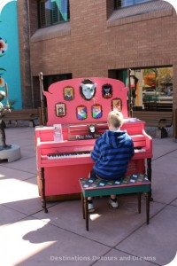 Street piano in Mesa engages young musician