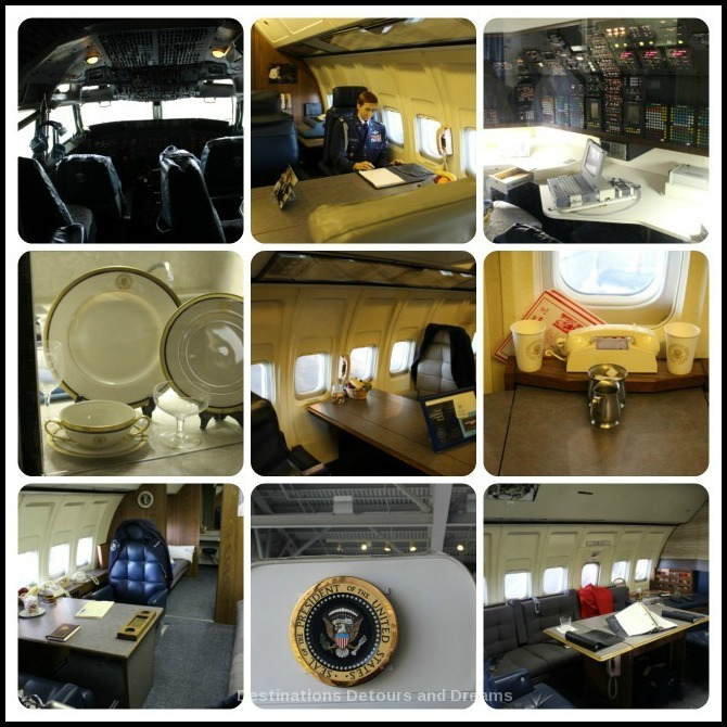 Inside Air Force One at Ronald Reagan Presidential Library