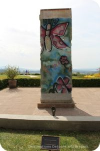 Part of the Berlin Wall on display at the Ronald Reagan Library in Simi Valley, California