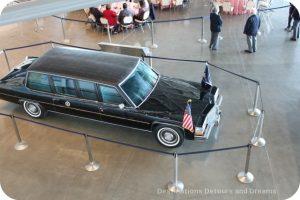 Presidential Motorcade car at Ronald Reagan Presidential Library