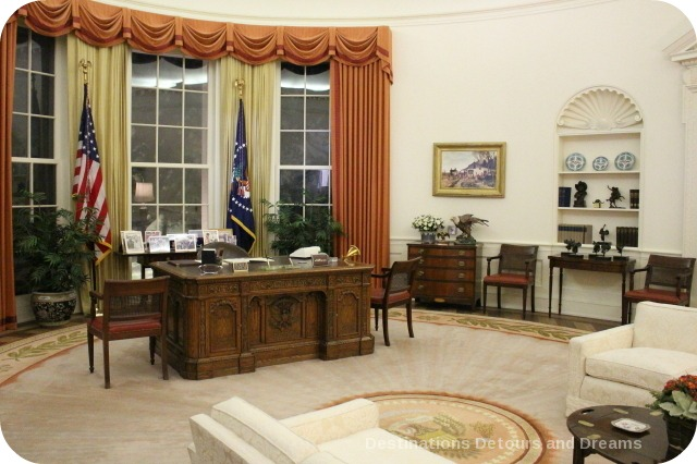 Oval Office replice at Ronald Reagan Presidential Library