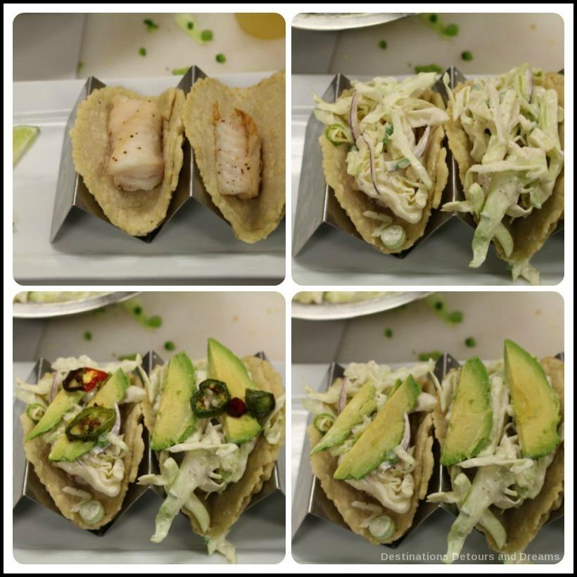 Fish taco assembly