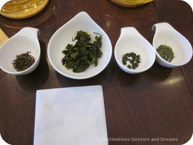 tea leaves at The Taste of Tea