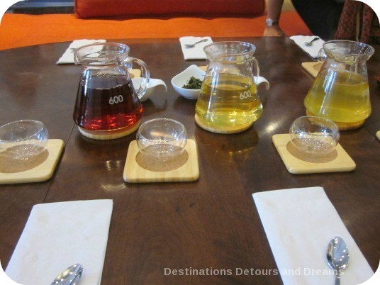 tea tasting at The Taste of Tea