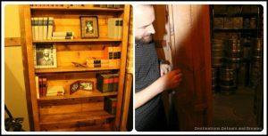Bookshelf door in Barrelhouse Speakeasy Taproom