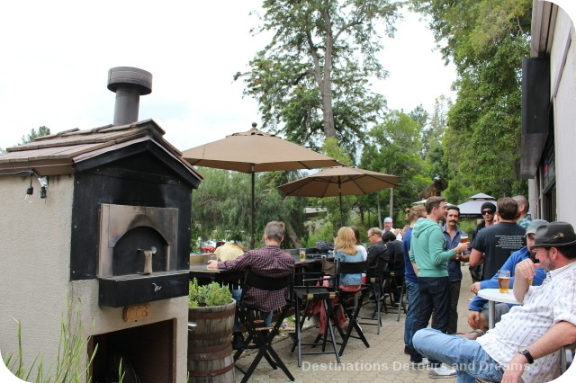 Craft beer in Wine Country: Central Coast Brewing patio