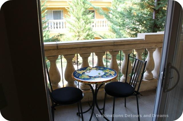 Dry Creek Inn balcony