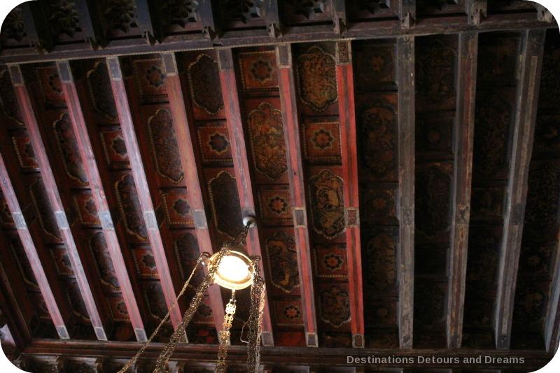 Hearst Castle Morning Room ceiling restoration