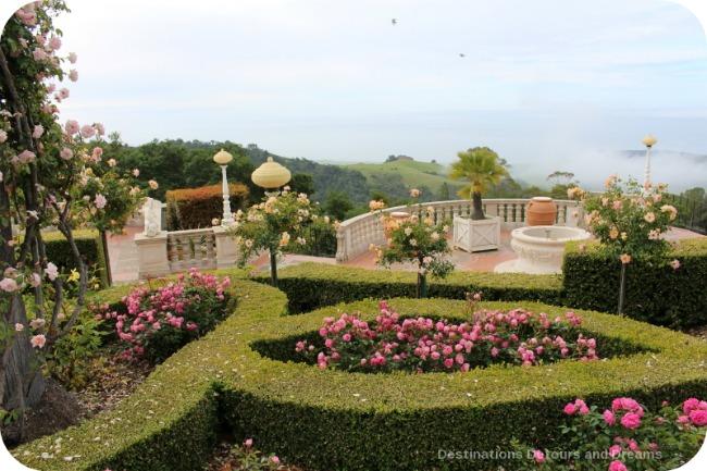 Hearst Castle garden terrace