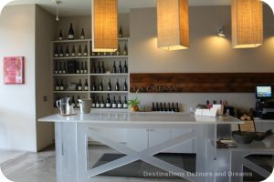 Wine and cheese sampling at La Crema Tasting Room, Healdsburg California