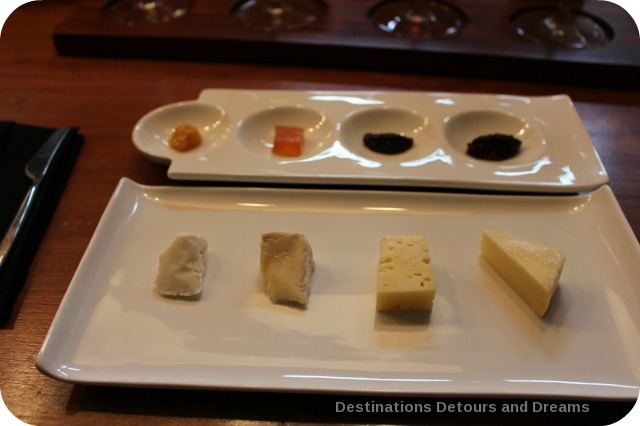 Cheese sampling at La Crema Tasting Room