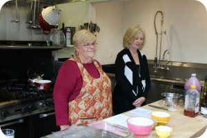 Marjorie Ott and Maureen Hubbell run a cooking class at Olallieberry Inn