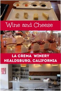 A wine and cheese pairing at La Crema Tasting Room in Healdsburg, #Sonoma County, #California. #wine #cheese