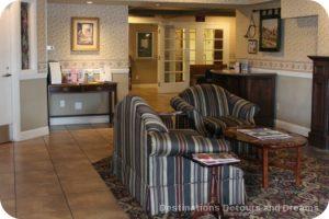 Lobby at Ascot Inn at the Rock in Morro Bay, CA