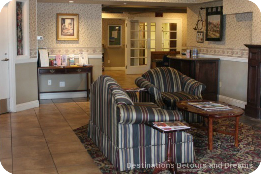 Lobby at Ascot Inn at the Rock in Morro Bay, CA
