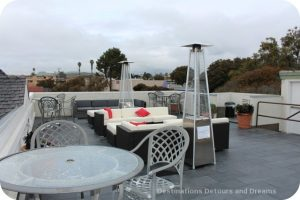 Rooftop patio at Ascot Inn at the Rock in Morro Bay, California