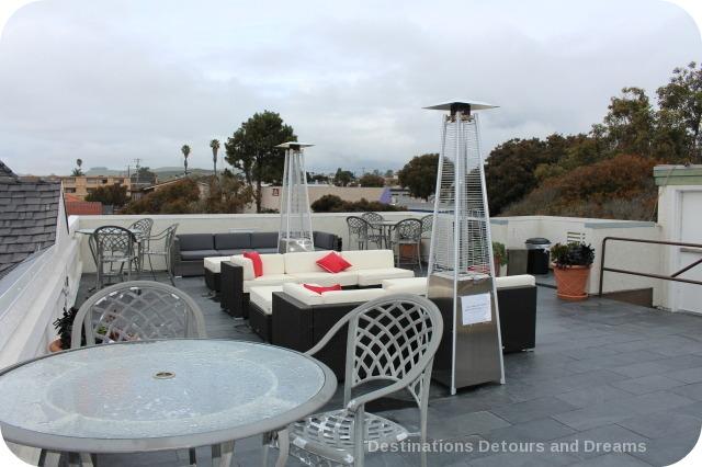 Rooftop patio at Ascot Inn at the Rock in Morro Bay, California