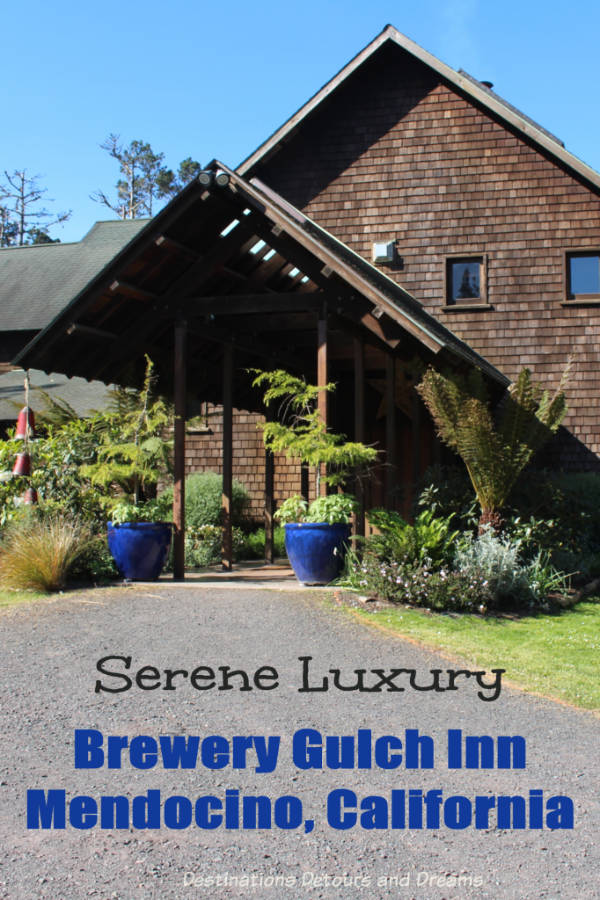 Brewery Gulch in Mendocino, California - a luxurious and elegantly rustic inn offers a serene stay amid stunning scenery. #California #Mendocino #accommodations #inn
