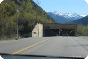 Snow shed on Trans Canada Highway near Rogers Pass