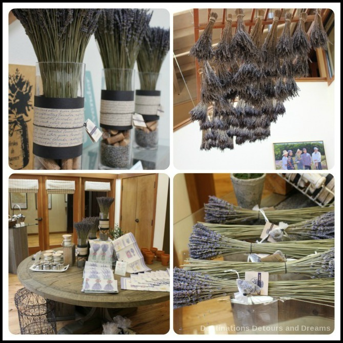 Lavender items in Matanzas Creek Winery store