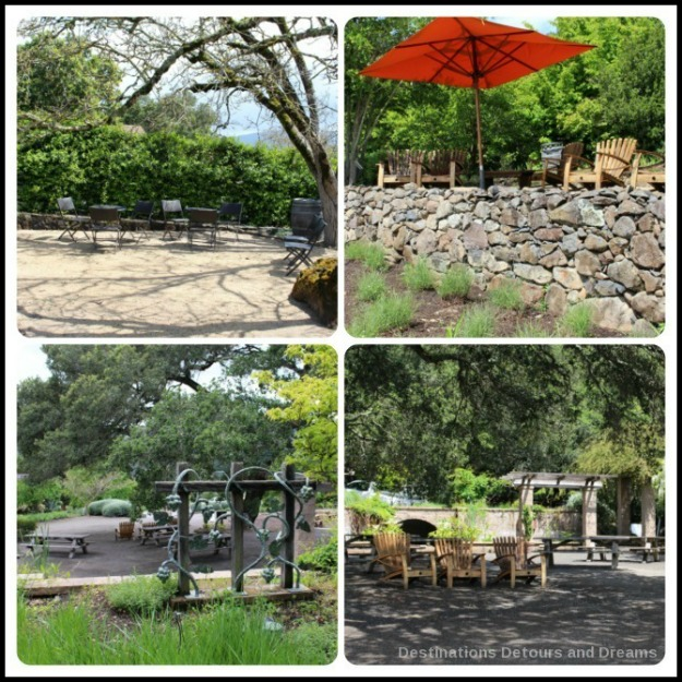 Sitting areas at Matanzas Creek Winery