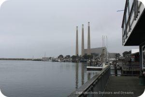 Morro Bay power plant smokestacks