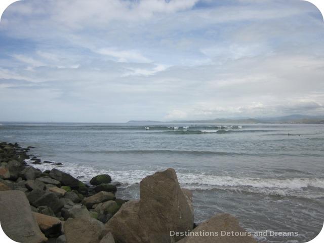 Surfers at Morro Bay