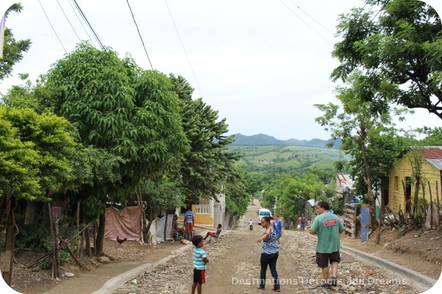 Walking back down the hill after teaching community English in the Dominican Republic
