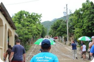 Walking up the hill to teach English in the Dominican Republic
