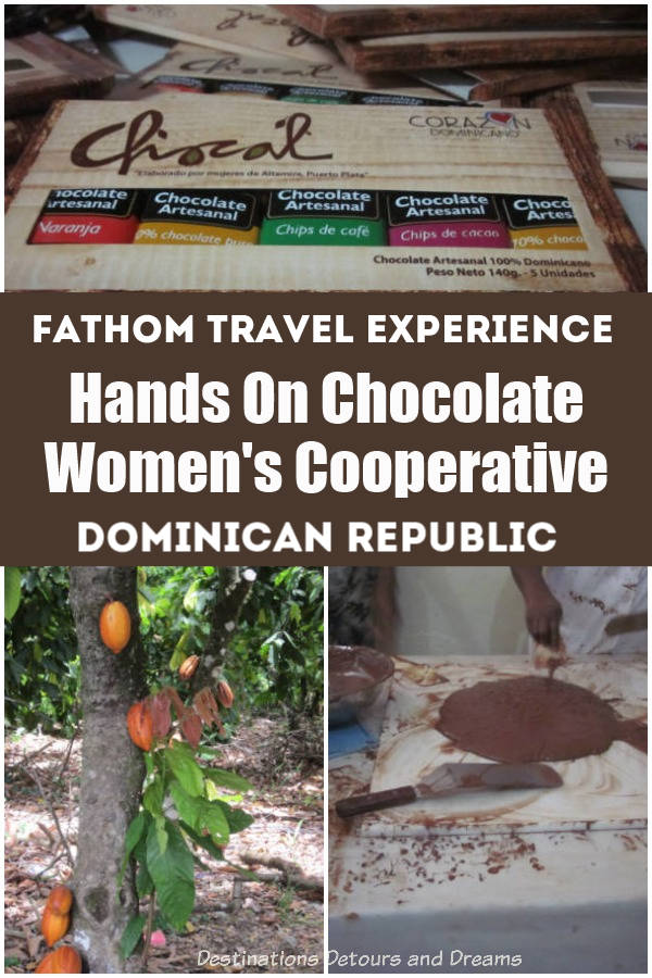 Hands On Chocolate Experience at Chocal women's cooperative in the Dominican Republic: an impactful onshore activity on a Caribbean cruise. A Fathom Travel Experience. #DominicanRepublic #Caribbean #cruise #chocolate