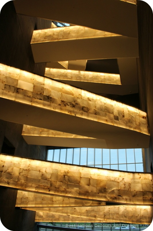 Alabaster ramps at Canadian Museum for Human Rights