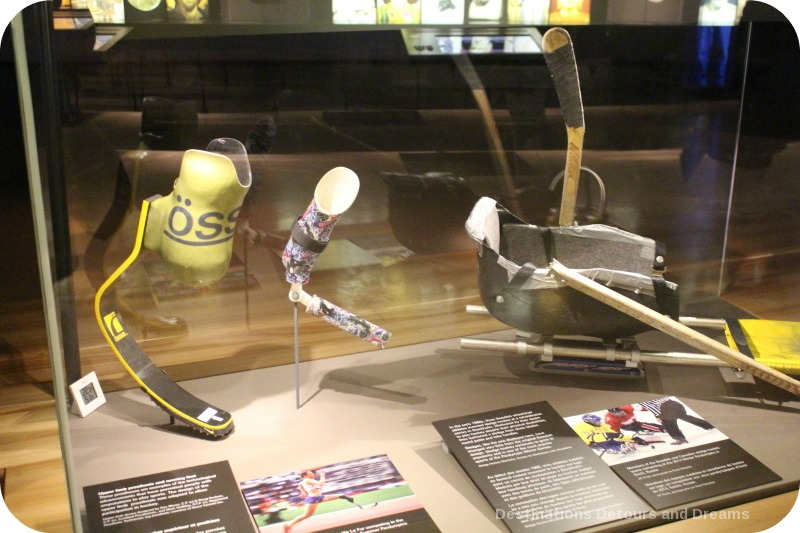 CMHR disabled sports equipment display