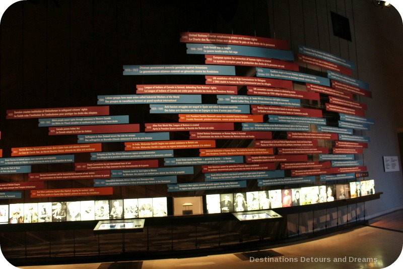 Timeline at Canadian Museum for Human Rights