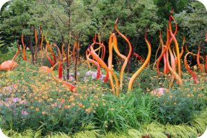 Rooftop garden at Chihuly Garden and Glass