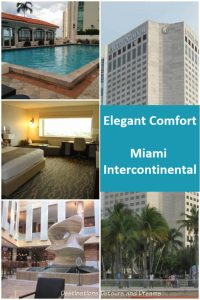 Elegant comfort at the Miami Intercontinental Hotel - plenty of creature comforts and a view of Biscayne Bay. #Miami #Florida #hotel #accommodations